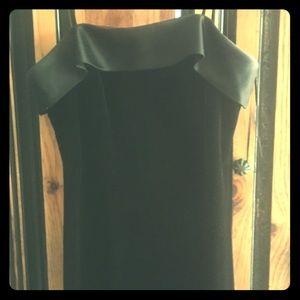 Beautiful long black velvet evening dress